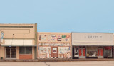 A colorful storefront  in Wallis,  TX