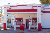 Old timey Mobil station seen in Smithville, TX