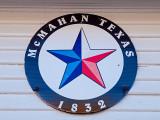 The Town of McMahan , TX displays their symbol