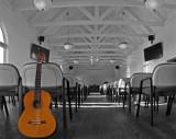 A church guitar