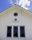 Oak Grove church facade detail