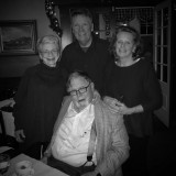 Barney Quinn (seated, with his wife, left, brother and sister), photo taken by a very famous waiter.