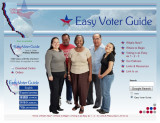 Easy Voter Guide  prototype (2009)