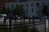 FBI agents doing sweep of crime scene
