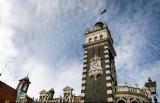 Dunedin Railway Station clock tower.