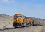 BNSF empty coal train, Milepost 127.