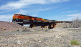 BNSF loaded coal train.