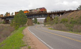 BNSF southbound manifest train.
