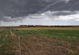 BNSF 9096 north, west of Trinchere, CO.