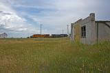 BNSF auto rack train-Angora, NE.