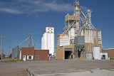 Grinnell, KS grain elevators.