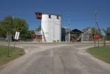 Smolan, KS older concrete grain elevator.