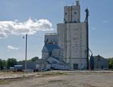 Solomon, KS old and newer grain elevators.
