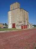 Chapman, KS older concrete grain elevator.