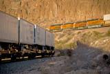 Two trains at the same time. Kingman Canyon, AZ.