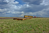 UP north bound train sitting in the Carr, CO siding.