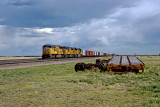 Another view of the UP train at Carr, CO.