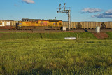 UP 8164 with the 8815 as a DPU-Hermosa, WY.