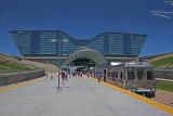 DIA Train at DIA Airport, Denver, Colorado.
