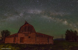 Milky Way over Moulton Barns