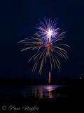 Fireworks at Coleto Creek Reservoir