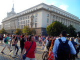 Manifestation against the Bulgarian Socialist (used to be communist) Party