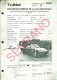 1970 Porsche 914-6 FIA / CSI Homologation Document No. 3042 (German) 18 Pages