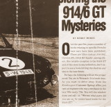 July 1996 Panorama Article / Exploring the 914-6 GT Mysteries (by Kerry Morse)