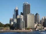 Narrow view of Sydney CBD