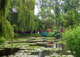 Monet's Lily Pond on a rainy day