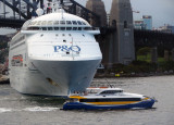 Pacific Jewel on its way out