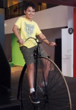 Charlie and a penny-farthing bicycle