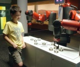 Charlie beating the robot