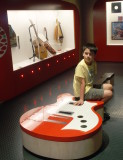 Charlie and a large guitar