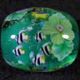 Tropical Fish Hibiscus Size: 0.99 x 0.86 Price: SOLD