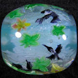Kingfisher and Maple Leaves Size: 0.92 x 0.91 Price: SOLD