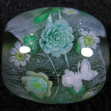 Green Rose & Snow Butterfly Size: 0.92 x 0.88 Price: SOLD