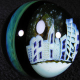 Gateson Recko and Piper Dan Benway: Galactic Ghost City  Size: 1.74  Price: SOLD