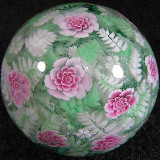 Ferns Flush With Roses Size: 1.39 Price: SOLD