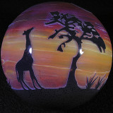 Sunset Giraffes Size: 3.49 Price: SOLD