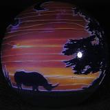 Sunset Rhinos Size: 3.51 Price: SOLD