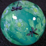 #110: Jewelflies and Water Flowers Size: 1.25 Price: $270