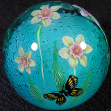 #121: Daffodils and Butterflies Size: 1.45 Price: $350