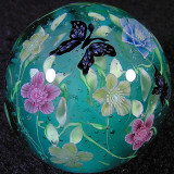 Double Christmas Rose and Butterflies Size: 1.35 Price: SOLD
