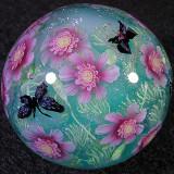 #129: Cosmos and Butterflies Size: 1.34 Price: $350
