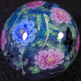 Paeonies and Butterflies Size: 1.31 Price: SOLD