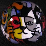 Graffiti Cat King Size: 1.86 Price: SOLD