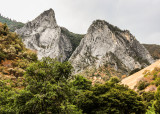 Massive granite peaks along the Kings Canyon Scenic Byway