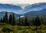 View of Hume Lake and Kings Canyon from Panoramic Point in Kings Canyon National Park