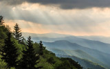 Early morning view in Great Smoky Mountains National Park